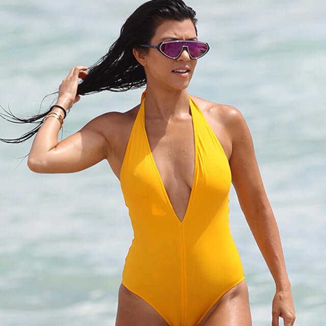 bikini beach photos kourtney kardashian