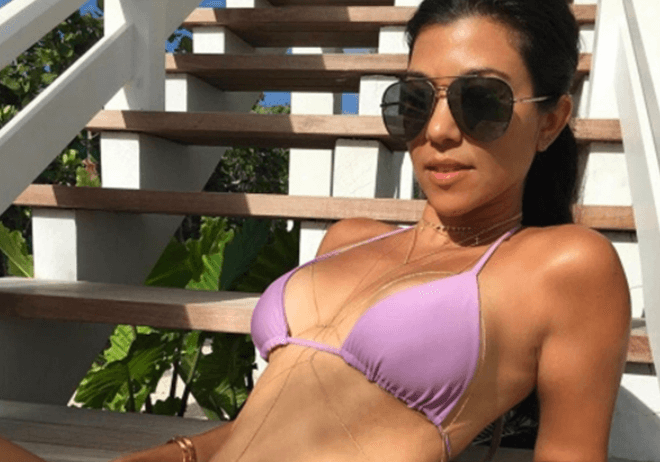 Photos of Kourtney Kardashian in bikini