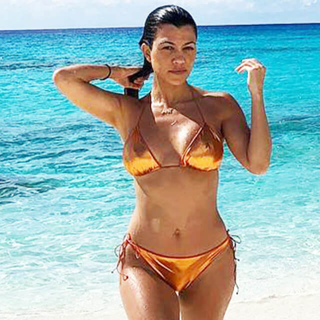 pics of bikini real kourtney kardashian