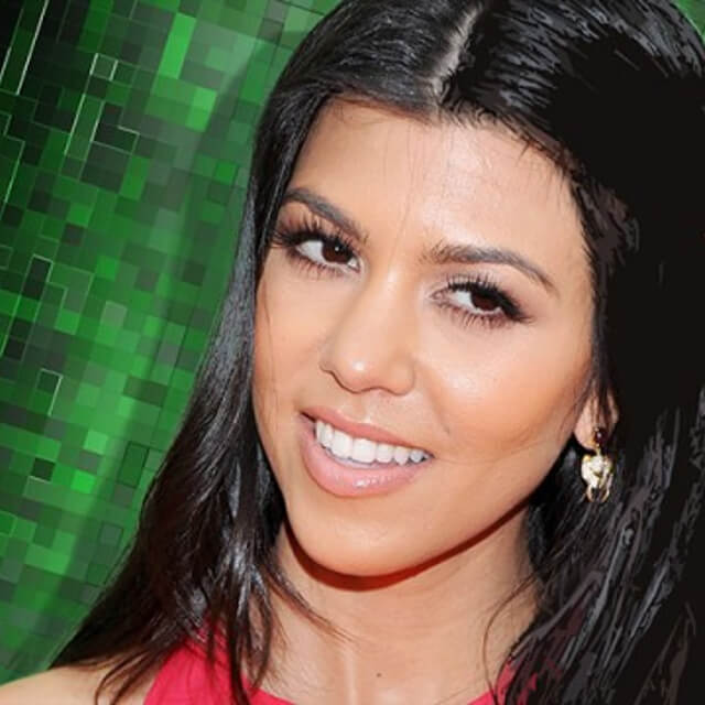 image of kourtney kardashian face