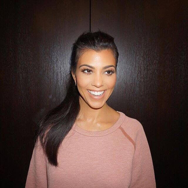 selfie photo of kourtney kardashian