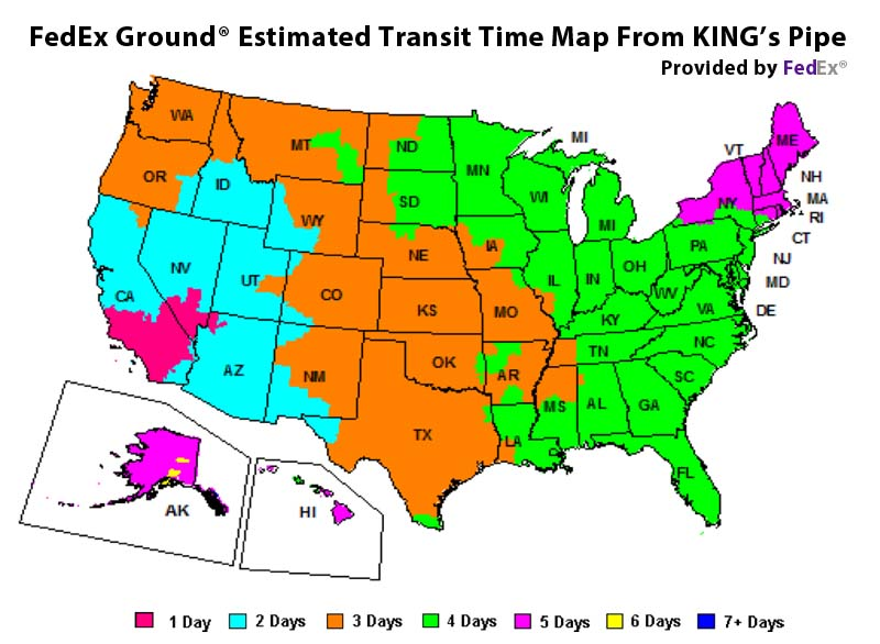 FedRd Ground Estimated Transit Time Map