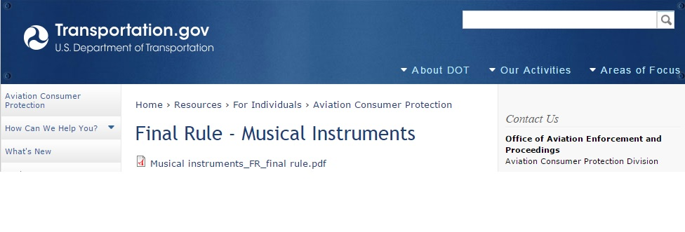 Dot rules instruments on board