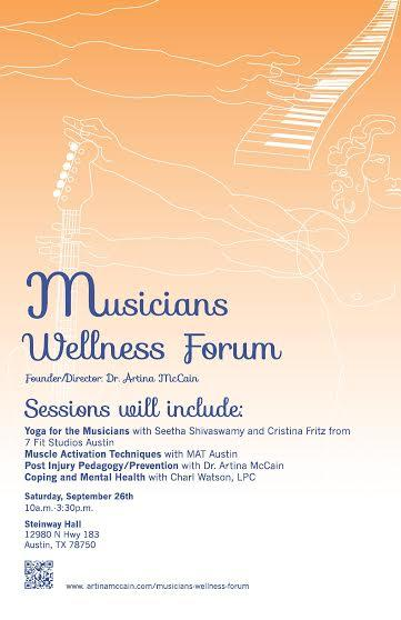 Musicians wellness forum flyer