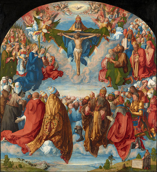 548px albrecht d%c3%bcrer   adoration of the trinity (landauer altar)   google art project