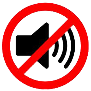 No sound please
