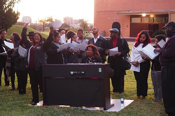 Huston tillotson choir header
