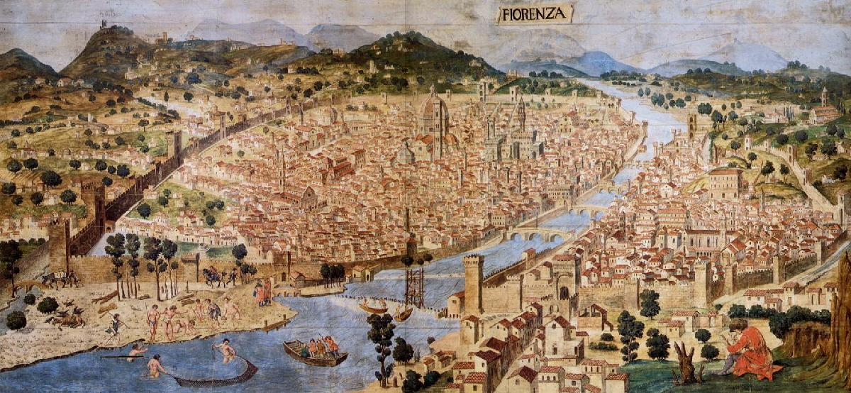 Florence aerial view 1490