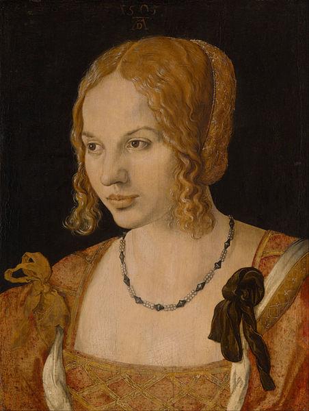 452px albrecht d%c3%bcrer   portrait of a young venetian woman   google art project