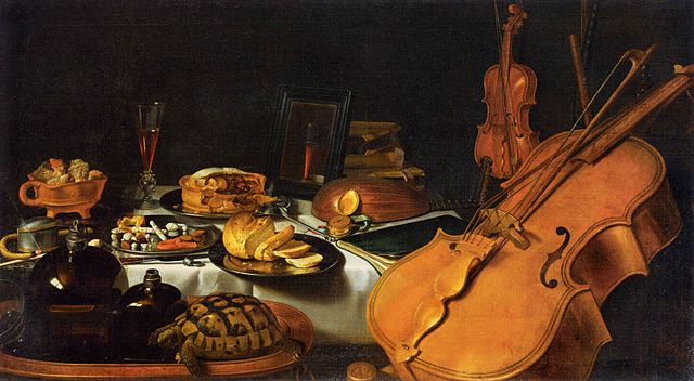 Claesz.  pieter   still life with musical instruments   1623