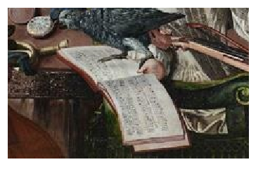 Paston treasure painting tight shot of music