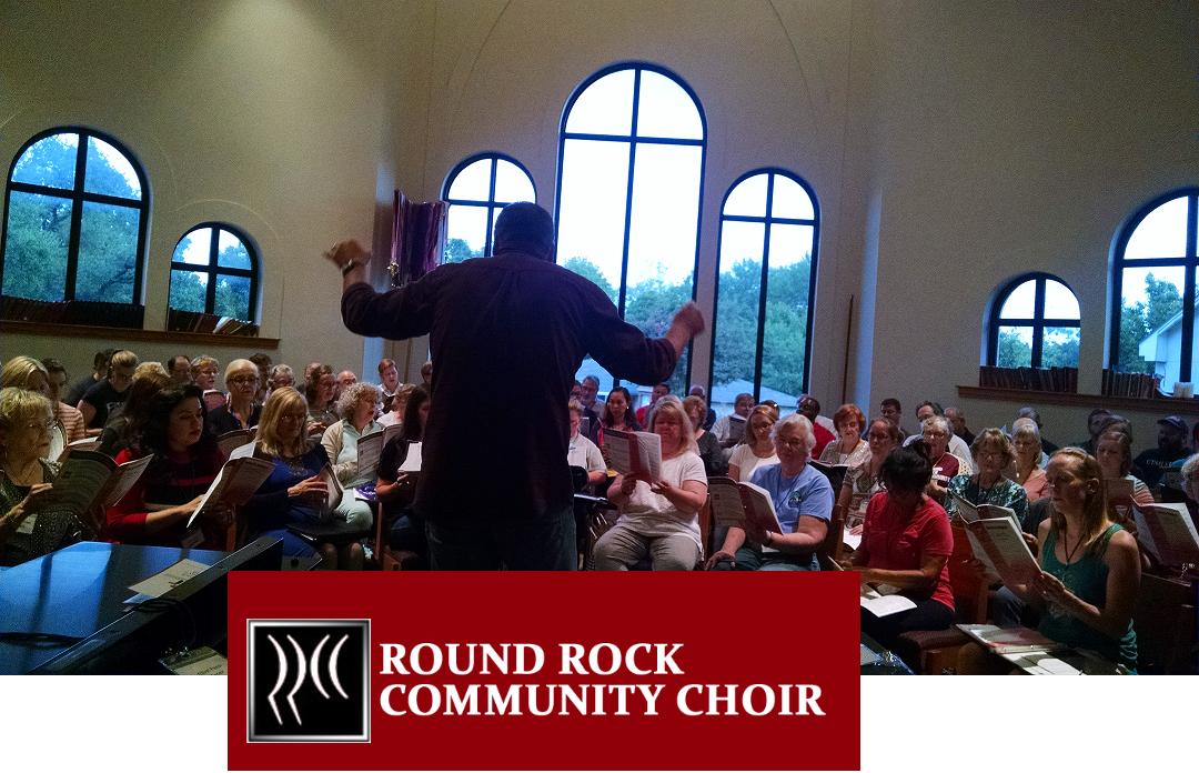 Rr comm choir michael cond with rr comm logo