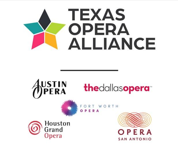Texas opera alliance logo with all