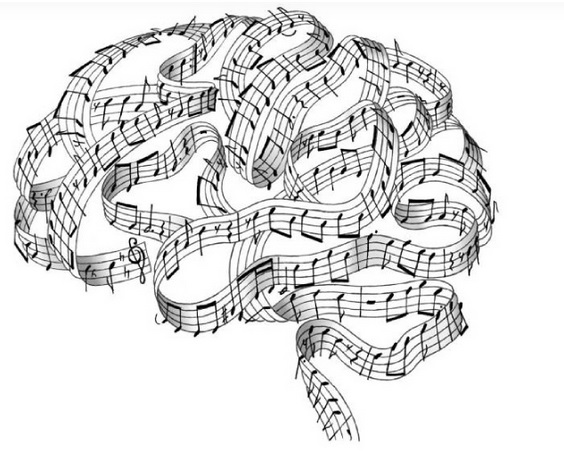 Music and memory brain with notes pic