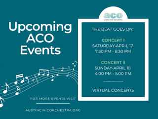 Kmfa austin civic orchestra beat goes on two concerts 320x240
