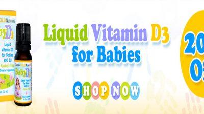 خصم 20% على فيتامين D3 للاطفال