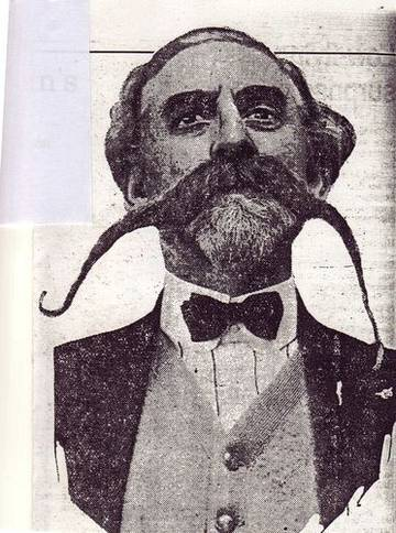 "Dante Muscio, winner of ""Great Moustache Tourney"", 1925 <span>© San Francisco Examiner </span>"