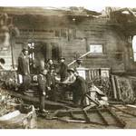 Louis Gerhardt (middle) and the Mill Valley Volunteer Fire Dept. at a house fire. <span>© Christine Goldsmith </span>