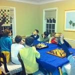 Children eager to learn from Irina Krush, top female international chess master