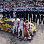 JMW Motorsport at Le Mans 2013 Scrutineering <span>© JMW Motorsport </span>