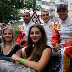Enjoying the drivers' parade