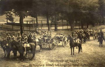 Mt. Tamalpais Military Academy, Mounted Artillery, San Rafael, c.1902 <span>© Anne T. Kent Rm </span>