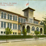 San Rafael High School, E. Street location, circa 1900
