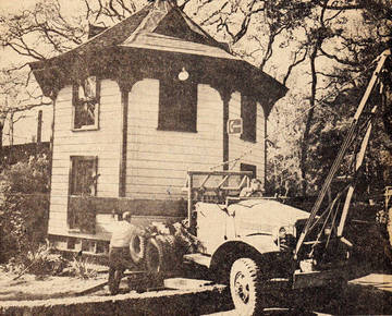 The Octagon House being moved to its new location, 1967 <span>&copy; Marin Independent Journal </span>