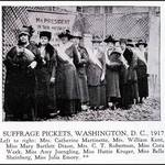 Elizabeth Thacher Kent at the Suffrage Pickets, Washington D.C., 1917 <span>© Anne T. Kent Calif. Rm </span>