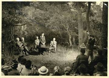 November 8, 1952: Dedication of the Willis Linn Jepson memorial at Tomales Bay State Park <span>&copy; California Room </span>