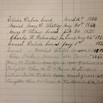 Detail from DuBois Genealogy documenting Elisha DuBois' family <span>© Anne T. Kent Calif. Rm </span>