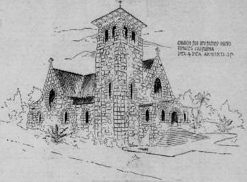 Concept Drawing for the Church of the Assumption, Tomales <span>© Marin County Tocsin </span>