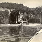 Practicing for the Ballet Aquacade at the Kent pool, 1950s