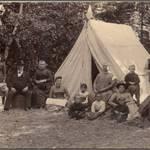 Camping at Camp Taylor, 1889