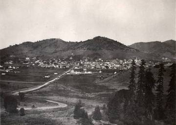 Looking down D Street, San Rafael, from Wolf Grade, circa 1875 <span>&copy; Anne T. Kent Room </span>