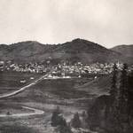 Looking down D Street, San Rafael, from Wolf Grade, circa 1875