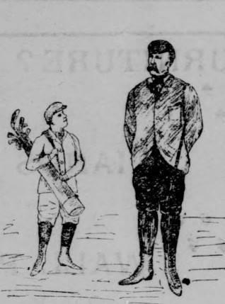 "Judge Morrow in ""proper"" golfing attire at the San Rafael Golf Club 1898 <span>&copy; Marin County Tocsin </span>"