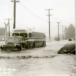 Flooding on Miller Avenue, Mill Valley, Dec. 27, 1945