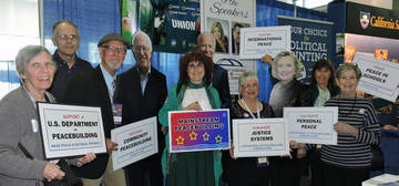 CA Peace Alliance Volunteers with 'Bernie Sanders', 'Joe Biden' & 'Hillary Clinton' <span>&copy;  </span>
