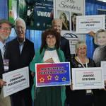CA Peace Alliance Volunteers with 'Bernie Sanders', 'Joe Biden' & 'Hillary Clinton'