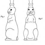 "Rudolph Betolli's patented design for a whimsical ""bunny rabbit"" baby bottle, 1927"