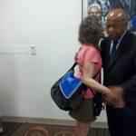 Debra Poss with Congressman John Lewis