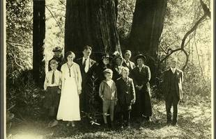 Kent Family at Muir Woods. William Kent is on the far right,