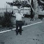 Joe Sciallo at the RCA Receiving Station at Pt. Reyes, 1950s. <span>© Richard Nielsen </span>