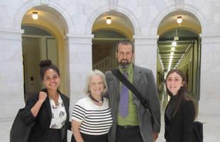 Pix 1 - Peace Alliance delegation lobbying for DoP