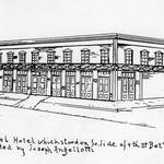 Sketch of Angellotti's San Rafael Hotel