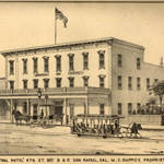 Angellotti's Marin Hotel later became the Central Hotel, pictured here in 1884 <span>&copy; Anne T. Kent Room </span>