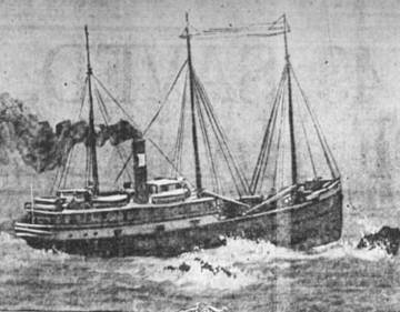 The SS Hanalei as it appeared the day of the wreck. <span>© Richard Nielsen </span>