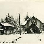 San Anselms Catholic Church after rare snow fall on Jan. 9, 1913