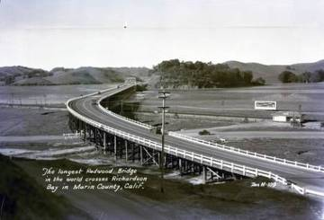 Redwood Bridge over Richardson Bay, c.1932 <span>&copy; Anne T. Kent Room </span>